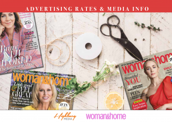 Advertising rate card for Woman and Home