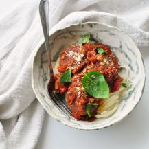 "Healthy Girl Lentil & Mushroom ""Meat"" Balls With Spaghetti Recipe"