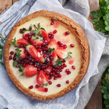 Baked Labneh Cheesecake