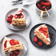Strawberry & coconut shortbread cake recipe