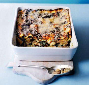 wild mushroom and spinach lasagne